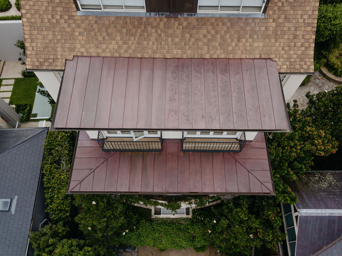 Darling Point Copper Standing Seam Roofing and Guttering