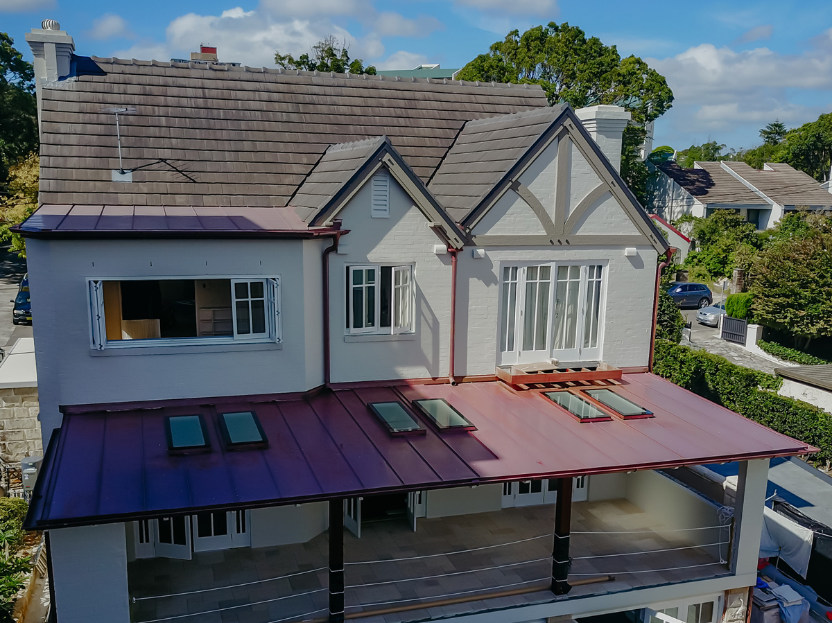 Copper stand seam roofing
