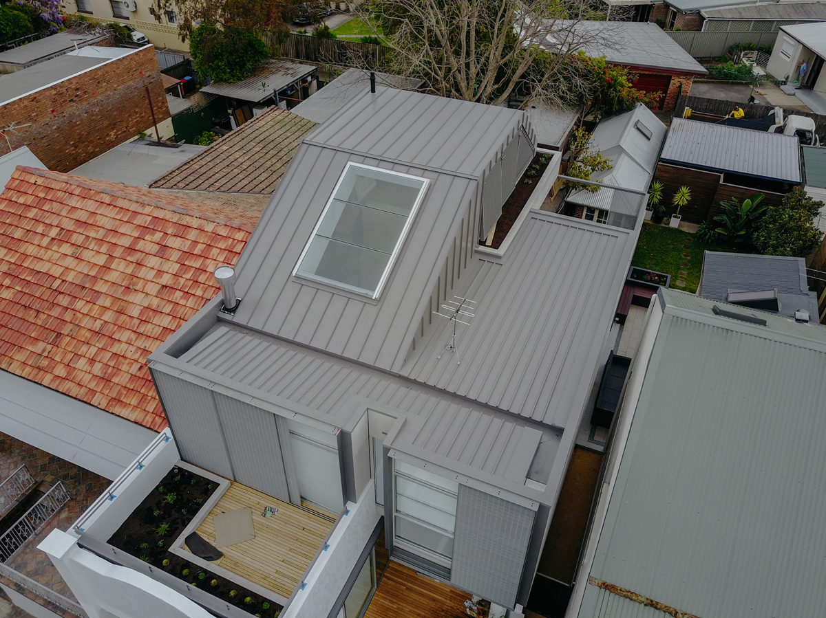 Colorbond residential metal roofing